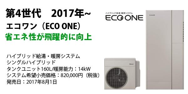 省エネ性が飛躍的に向上 ハイブリッド給湯・暖房システム シングルハイブリッド タンクユニット160L/暖房能力:14kW システム希望小売価格:820,000円(税抜) 発売日:2017年8月1日
